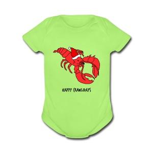 Happy Crawlidays - (Baby's  ) - Short Sleeve Baby Bodysuit