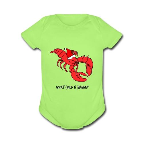 What Child Is Bisque - (Baby's Onesie) - Organic Short Sleeve Baby Bodysuit