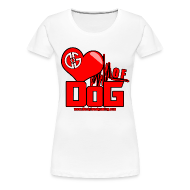 Women's T-Shirts ~ Women's Premium T-Shirt ~ Heart of DoG Shirt Womens