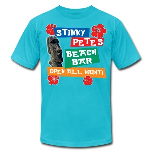 Stinky Pete's Beach Bar - Men's T-Shirt by American Apparel
