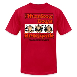 The Monkey Boys Brewpub - Men's T-Shirt by American Apparel