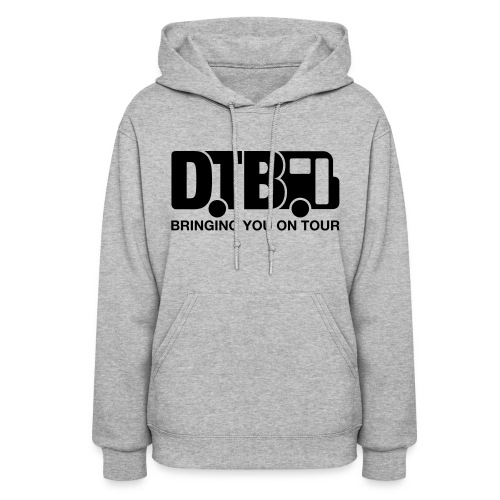 Digital Tour Bus Women's Hoodie - Black Design - Women's Hoodie
