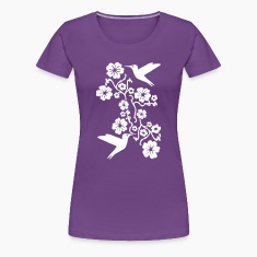 Hummingbirds and Flowers Women's T-Shirts
