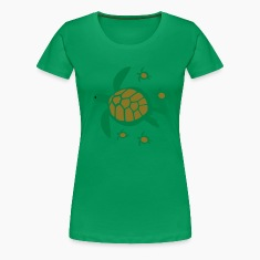 Sea Turtle with Babies Women's T-Shirts
