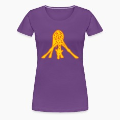 Giraffe Drinking Women's T-Shirts