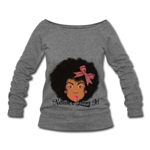 SN&LI! Afro Fro Off the Shoulder Sweatshirt  - Women's Wideneck Sweatshirt