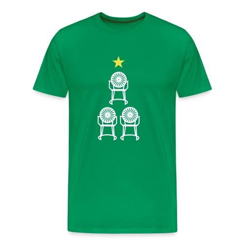 Christmas Chairs- white - Men's Premium T-Shirt