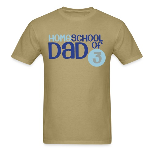 Homeschool Dad of 3 - Men's T-Shirt