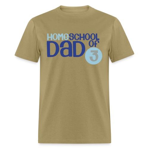 Homeschool Dad of 3 - Men's T-Shirt