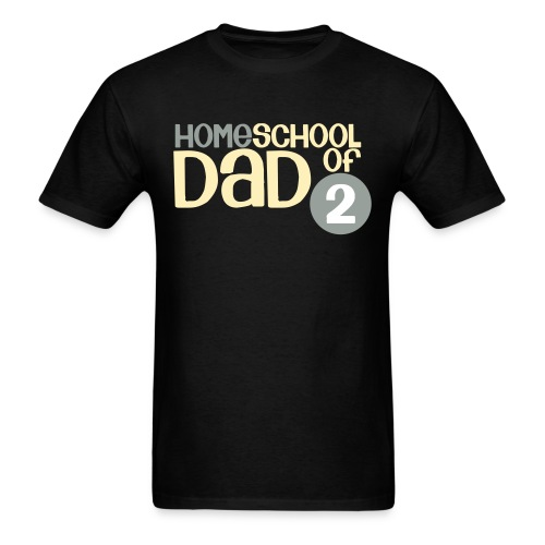 Homeschool Dad of 2 - Men's T-Shirt