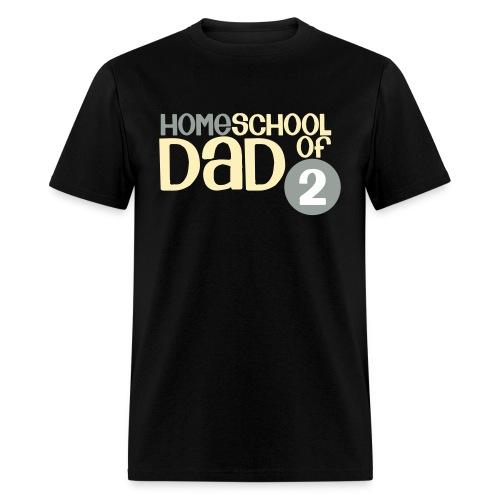 Homeschool Dad of 2 - Men's T-Shirt