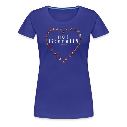 I Ship It - Pixel Characters Heart Women's Tee - Women's Premium T-Shirt