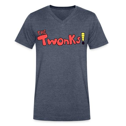 The Twonks V-Neck T-Shirt - Men's V-Neck T-Shirt by Canvas