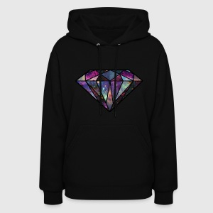 Universe Diamond Women's Hooded Sweatshirt - Women's Hoodie