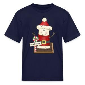Kids Santa Smore Holiday Shirt - Kids' T-Shirt