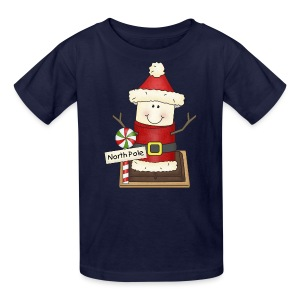 Kids Santa Smore Holiday Shirt - Kids' T-Shirt