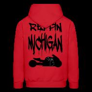 Hoodies ~ Men's Hoodie ~ S&S REPPIN MICHIGAN BLACK