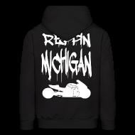 Hoodies ~ Men's Hoodie ~ S&S REPPIN MICHIGAN WHITE