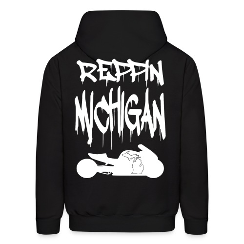 S&S REPPIN MICHIGAN WHITE - Men's Hoodie