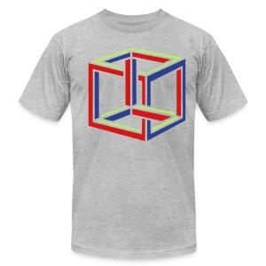Impossible cube (man's) - Men's Fine Jersey T-Shirt