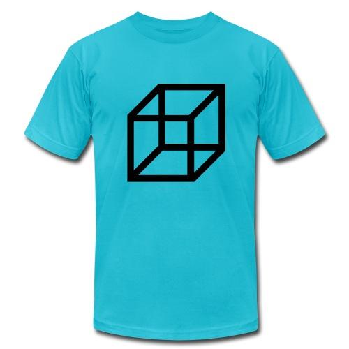 Necker cube (men's) - Men's  Jersey T-Shirt