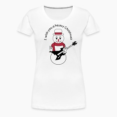 Metal snowman for white Women's T-Shirts