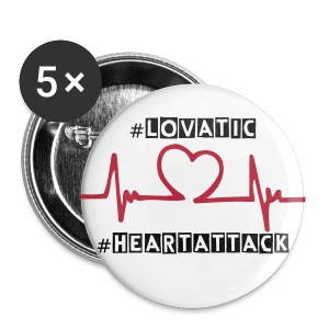 Demi - #HeartAttack Pin - Large Buttons