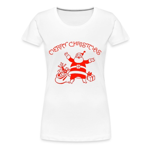 Santa Claus Merry Christmas - Women's Premium T-Shirt