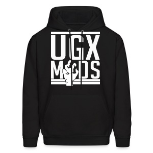 Men's Hoodie - Most recent UGX-Mods logo without the forum web address on the back.