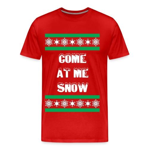 Come at me snow shirt - Men's Premium T-Shirt