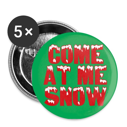 Come at me snow button - Small Buttons