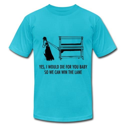 Janna Pulling Piano T-Shirt - Men's  Jersey T-Shirt