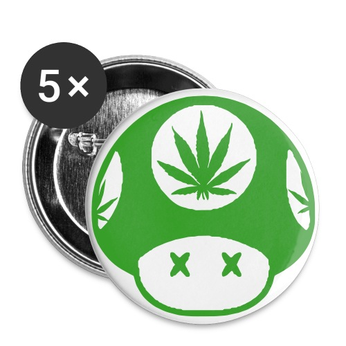 Super Mario Weed Button (5 pack) - Small Buttons