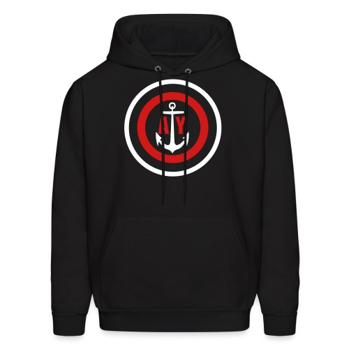 Anchored Target  - Men's Hoodie
