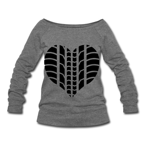Tread Heart - Women's Wideneck Sweatshirt