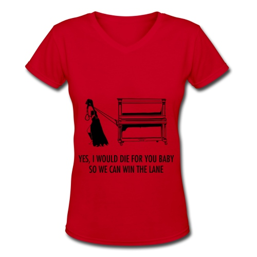Janna Pulling Piano V-Neck - Women's V-Neck T-Shirt