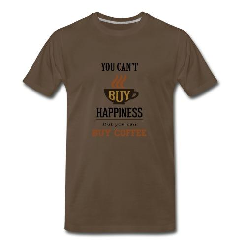 Happiness - Coffee Saying - Men's Premium T-Shirt