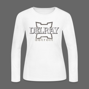 Delray, Detroit - Women's Long Sleeve Jersey T-Shirt