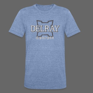 Delray, Detroit - Unisex Tri-Blend T-Shirt by American Apparel