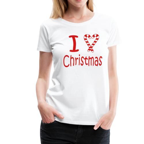 I Heart Christmas - Women's Premium T-Shirt