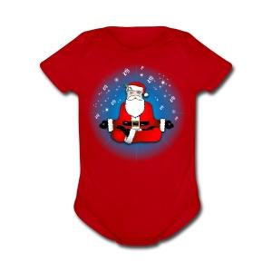 Santa's Meditation - Short Sleeve Baby Bodysuit