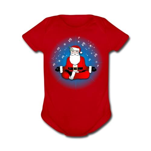Santa's Meditation - Organic Short Sleeve Baby Bodysuit