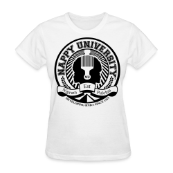 Nappy University w/Crest Women's Standard Weight T-Shirt - Women's T-Shirt