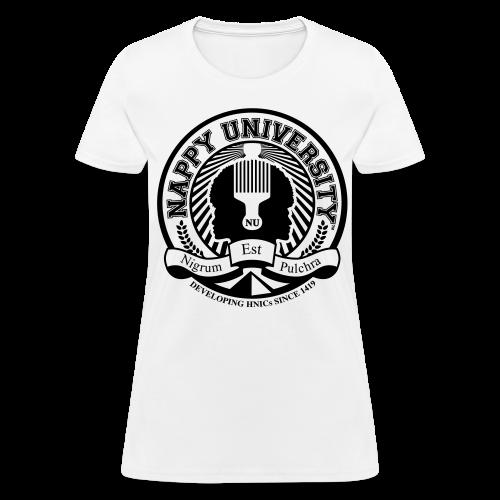 Nappy University w/Crest Women's Standard Weight T-Shirt - Women's T-Shirt