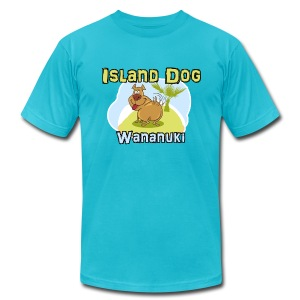 Island Dog - Men's T-Shirt by American Apparel