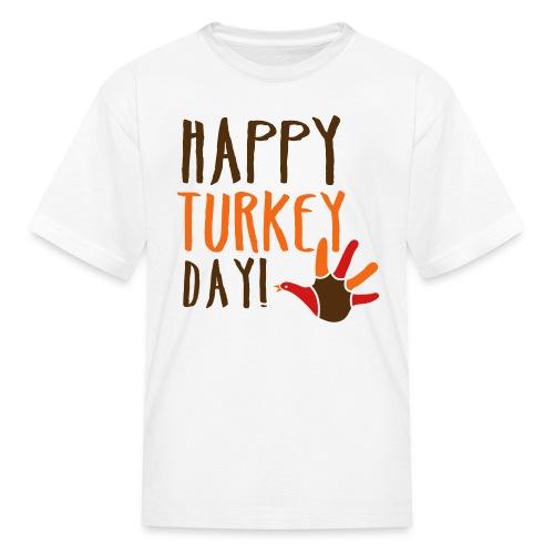 Kids Happy Turkey Day - Kids' T-Shirt