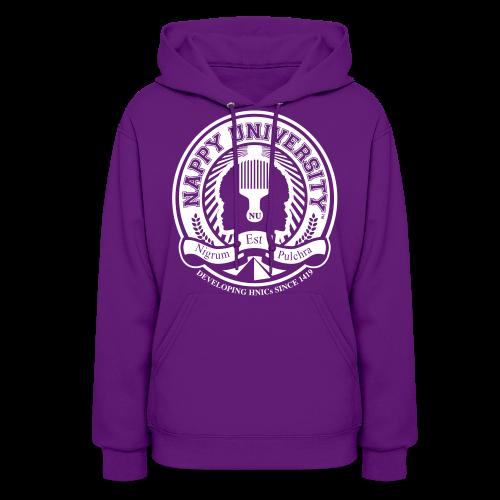 Nappy University w/Crest Women's Hooded Sweatshirt (rev) - Women's Hoodie