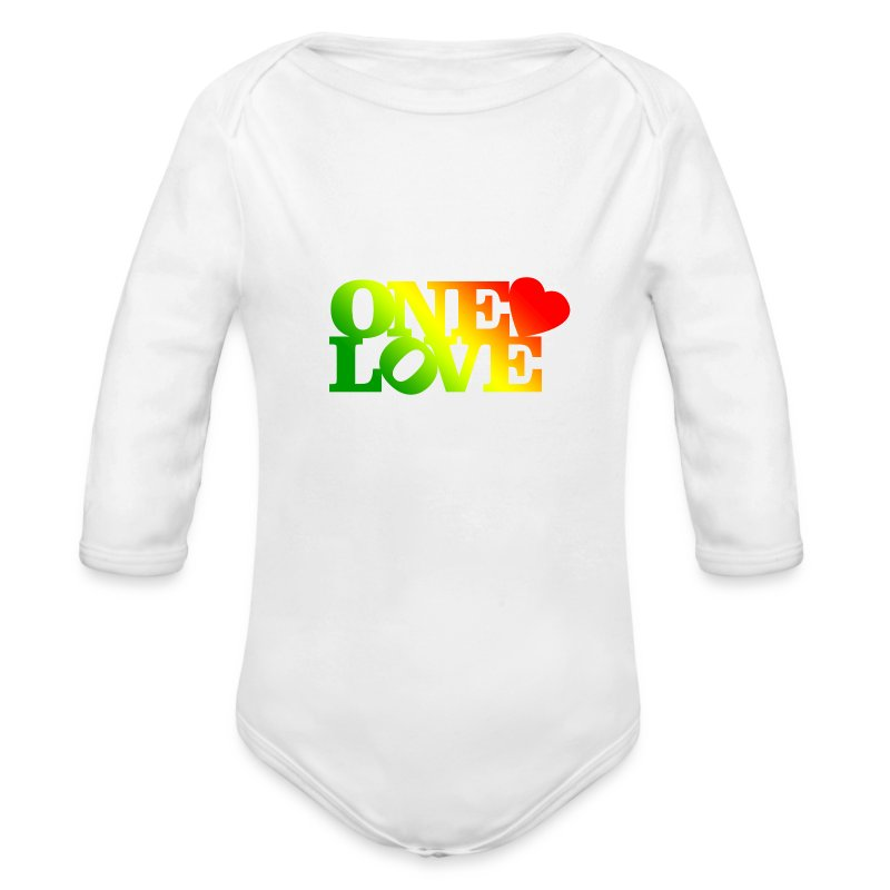 One Love Rasta - Long Sleeve Baby Bodysuit