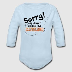 Cleveland Diaper - Long Sleeve Baby Bodysuit