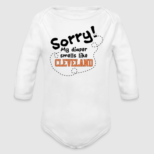 Cleveland Diaper - Organic Long Sleeve Baby Bodysuit